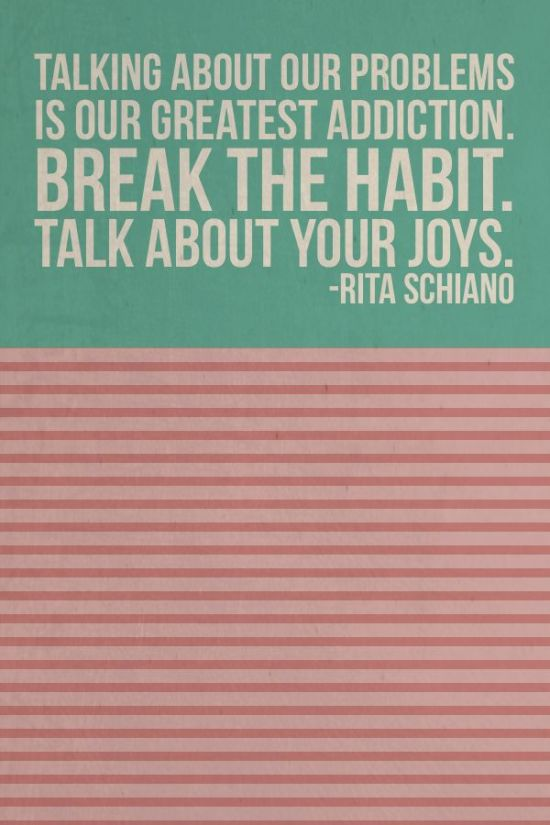 Wisdom Wednesdays: talk about your joys!