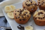 Skinny Honey-Sweetened Banana Chocolate Chip Muffins *Gluten-Free!*