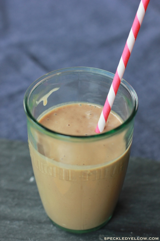 Healthy Chocolate Peanut Butter Banana Smoothie