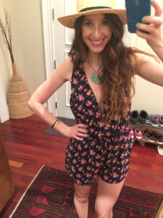 Summer Style: Floral Romper and Floppy Fedora