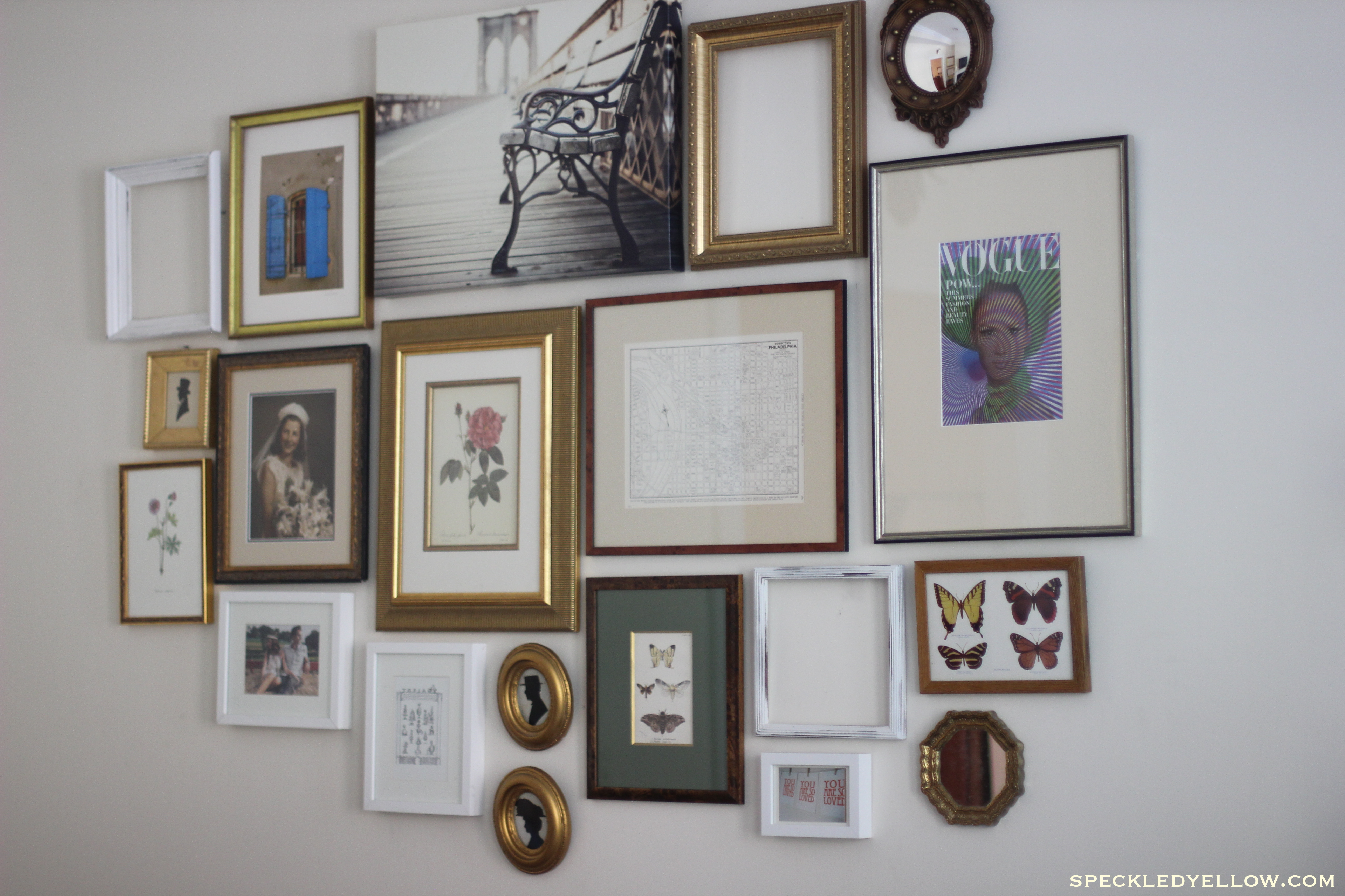 how to put art on a wall