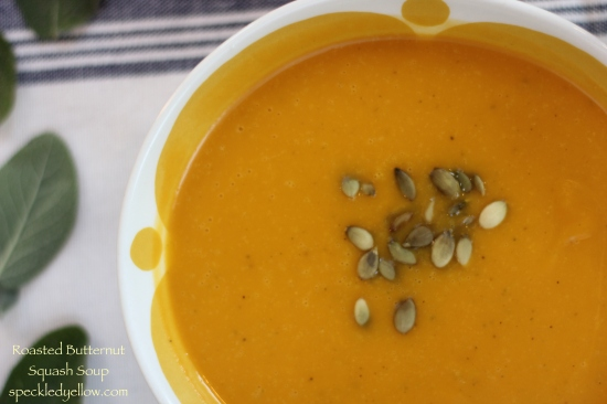 Healthy Roasted Butternut Squash Soup!