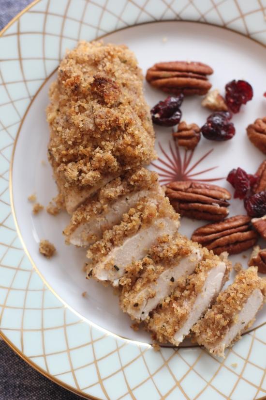 Oven Baked Pecan-Crusted Dijon Chicken